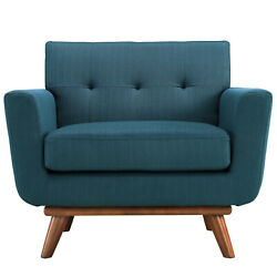 Engage Upholstered Armchair in Azure