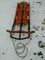 Shooting Star Vintage Antique Youth Snow Sled 1950's Christmas Decoration Sleigh