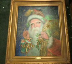 Christopher Radko Old St. Nick Framed Oil Painting On Canvas Coa Limited 185/500
