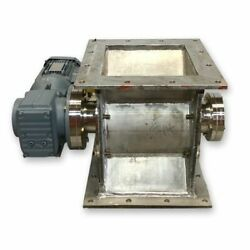 Used 10andquot Stainless Steel Rotary Valve Feeder