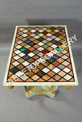 5and039x3and039 Marble Rectangle Dining Table Top Beautiful Mosaic Inlay Office Decor E613