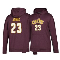 Lebron James Adidas Cleveland Cavaliers Team Issue Climawarm Maroon Hoodie Women
