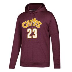 Lebron James Cleveland Cavaliers Adidas Maroon Team Issue Climawarm Po Hoodie