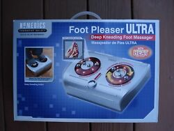 Homedics Foot Pleaser Ultra Deep Kneading Foot Massager With Heat / New In Box