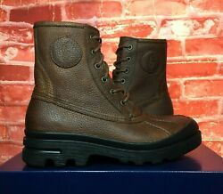 Polo Udel Duck Boot Dark Brown 812729120-002 Tumbled Pull Up Menand039s