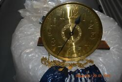 Antique Grandfather Clock Movement With Round Dial Fully Working