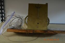 Antique Original Grandfather Clock Movement, With No Bell For Parts
