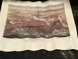 """Boston Vintage Map Currier And Ives 1873 23"""" X 17"""" Matte"""