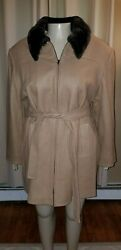 Lane Bryant Designs And Co Camel Beige Wool Coat Jacket Size 22/24 Nwt