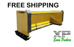 8and039 Xp30 Cat Yellow Snow Pusher Pullback Barandfront Shoes-skid Steer-free Shipping