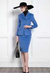 Custom Made To Order 2pc Career Casual Blazer Jacket Skirt Suit Plus 1x-10x Y373