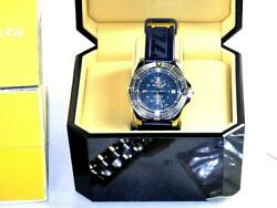 Breitling Colt Gmt A32350 Stainless Steel Blue Dial Watch W/extra Strapboxln-