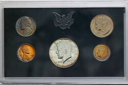 1968-s Us Mint Proof Set Monster Nickel Colorful Toning Unc Bu Choice Dr