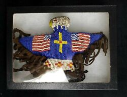 Native American Hand Crafted Beaded Eagle