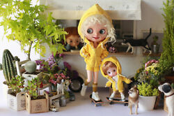 Miss Yo Sports Hoodie For Kenner Blythe Doll - Yellow - Doll Dress Outfit