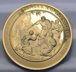 Franklin Mint Thomason Medallic Bible Bronze Medal 24 Moses Smote The Rock