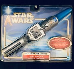 Brand New Star Wars Attack Of The Clones Anakin Skywalker's Lightsaber Duel Game