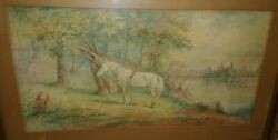 E.g. Mascraft Watercolor Painting Fond Du Lac Wisconsin Wi Nelly Horse Lake 1910