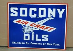 Socony Air Craft Oil Standard Oil Reproduction Gas Oil Collectable Man Cave...