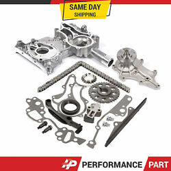 Heavy Duty Timing Chain Kit Cover Water Pump For 85-95 2.4 Toyota 22r