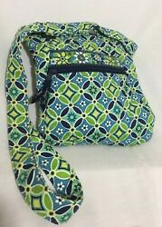 Vera Bradley Daisy Women's Hipster Crossbody Over shoulder Green Blue Purse $16.95