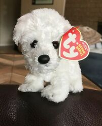 Ty Beanie Baby Cargo White Terrier Puppy Dog Plush Toy With Tags NWT