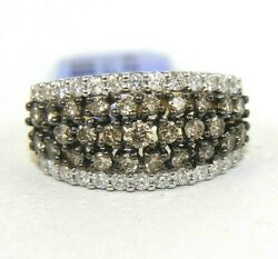 Natural Round Fancy Color Diamond Cluster Wide Ring Band 14k Yellow Gold 2.36ct