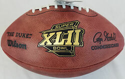 Super Bowl 42 Xlii Official Wilson Nfl On Field Game Football Giants Vs Patriots