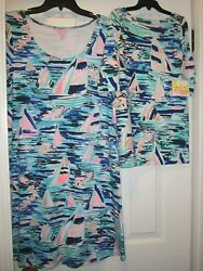 Lilly Pulitzer Pier Pressure Mommy and Me Set - NWT