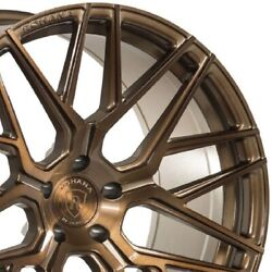 4 20 Staggered Rohana Rfx10 20x9 20x10.5 Bronze Concave Wheels Forged A3