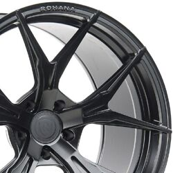 4 20 Staggered Rohana Rfx5 20x10 20x11 Black Concave Wheels Forged Rims A3