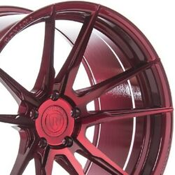 4 20 Staggered Rohana Rfx2 20x9 20x12 Red Concave Wheels Forged Rims A3