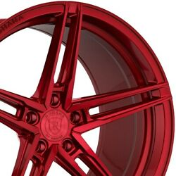 4 20 Staggered Rohana Rfx15 20x10 20x11 Red Concave Wheels Forged Rims A3