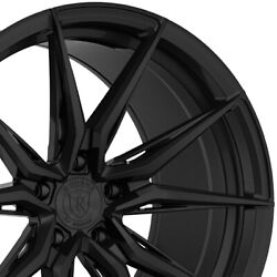 4 20 Staggered Rohana Rfx13 20x9 20x12 Black Concave Wheels Forged Rims A3