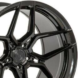 4 22 Staggered Rohana Rfx11 22x9 22x10.5 Black Concave Wheels Forged A3