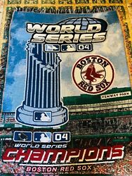 Boston Red Sox 2004 World Series Champions Woven Tapestry Blanket Throw Mlb