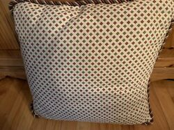 High Quality Throw Pillow Zippered Cover Sage Burgundy Beige Beautiful