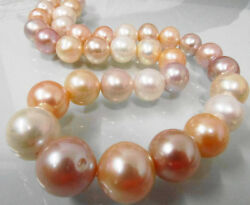Huge Natural 1815mm South Sea Genuine White Gold Pink Pearl Necklace