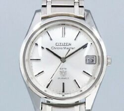 Citizen Chronomaster Date Hods2901-y Silver Dial Manual Vintage Watch 1968's