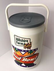 Vintage Budweiser Bud Bowl Beer Can Cooler 1990andrsquos San Diego Hillshire Farm 1998