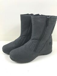 Totes Boots Weather Protector Women's Black Nylon Sz 8M Side Zip $12.55