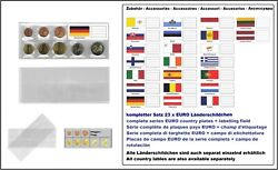 100 Look 1-k7es-deu Coin Pockets Euro-course-coins-sets + Germany Flags