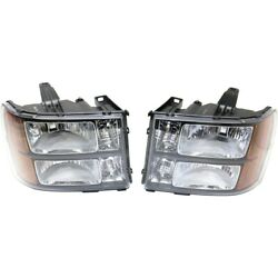 Hid Headlight Lamp Left-and-right Hid/xenon Performance Lh And Rh For Sierra 1500