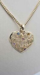 Gold Chain, 14 Kt Italian Fabric, 12,5 Grams Whith Charm Free Shipping