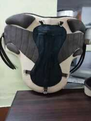 All Purpose Freemax Treeless English Horse Tack Saddle With Extra Pad With Girth