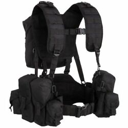 Russian Pouch Chest Rig Vest Army Tactical Molle Airsoft Black Smerch Smersh Sso