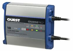 Guest 2710a Chargepro On-board Battery Charger 10a / 12v, 1 Bank, 120v Input