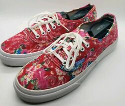 Vans Paisley Floral California  Womens size 7 Pre owned  EUC Pink