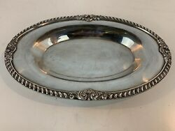 Vintage Epca Bristol Silver Plate Oval Tray By Poole 20