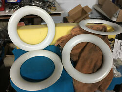 B4a-18303-b 4 1949-54 Ford 15and039and039 White Wall Wheel Trim Rings Hot Rod /rat Rod